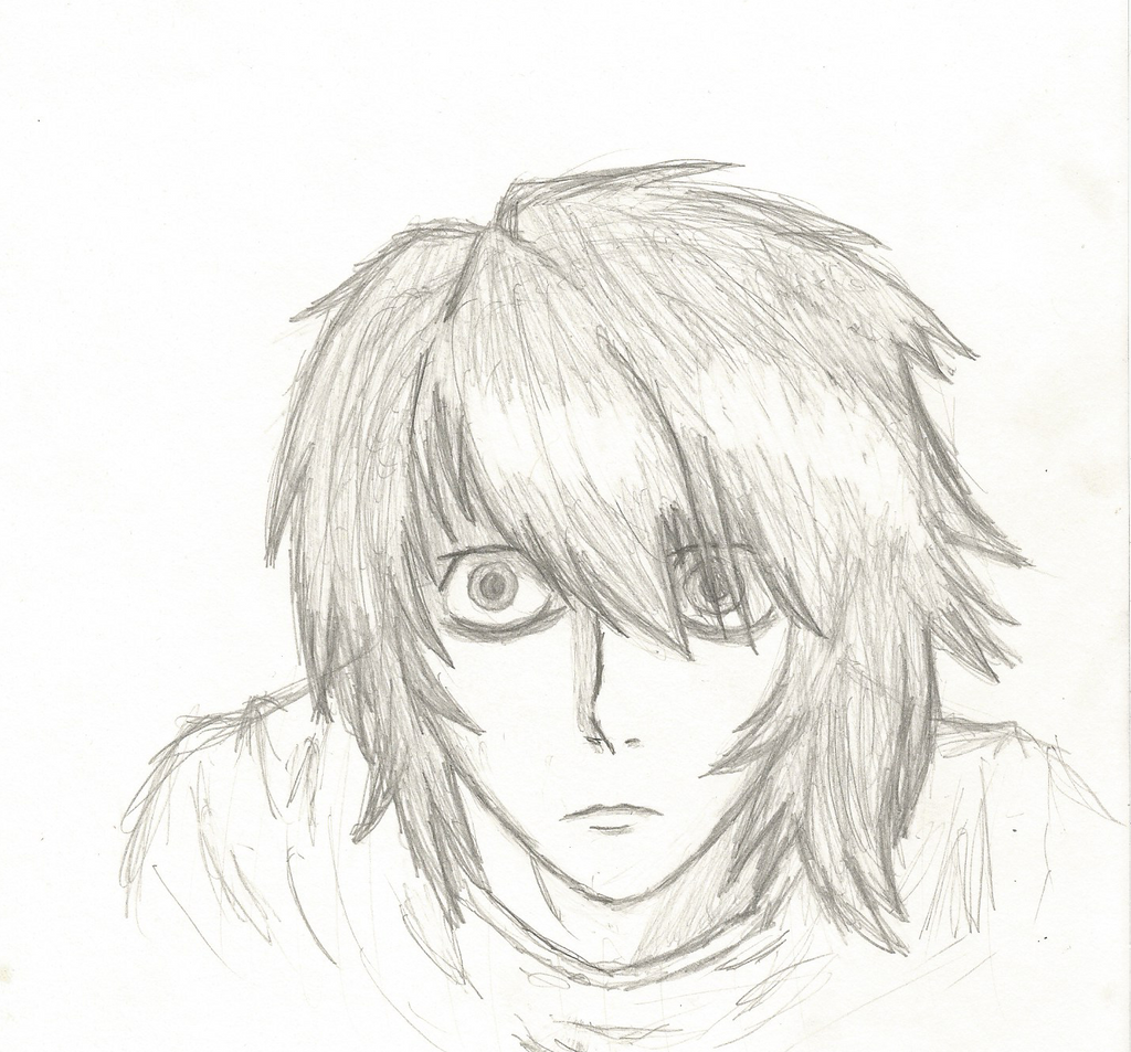 Lawliet Sketch by DovahkiinRuvaak