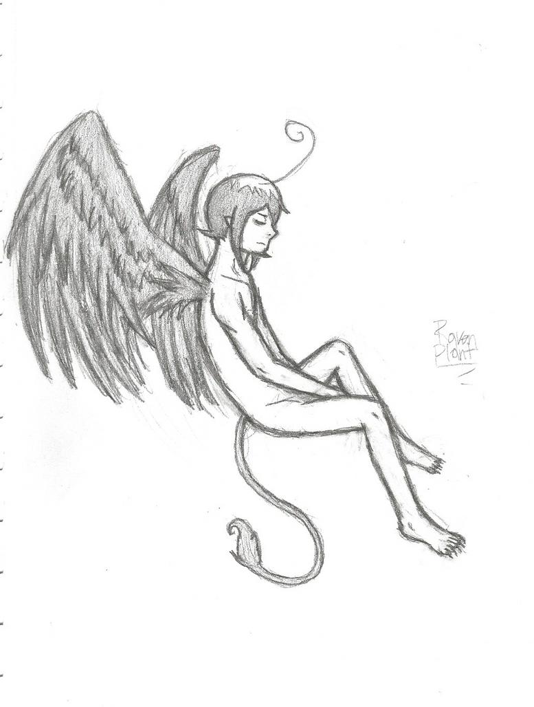 Winged Mepphy doodle by DovahkiinRuvaak