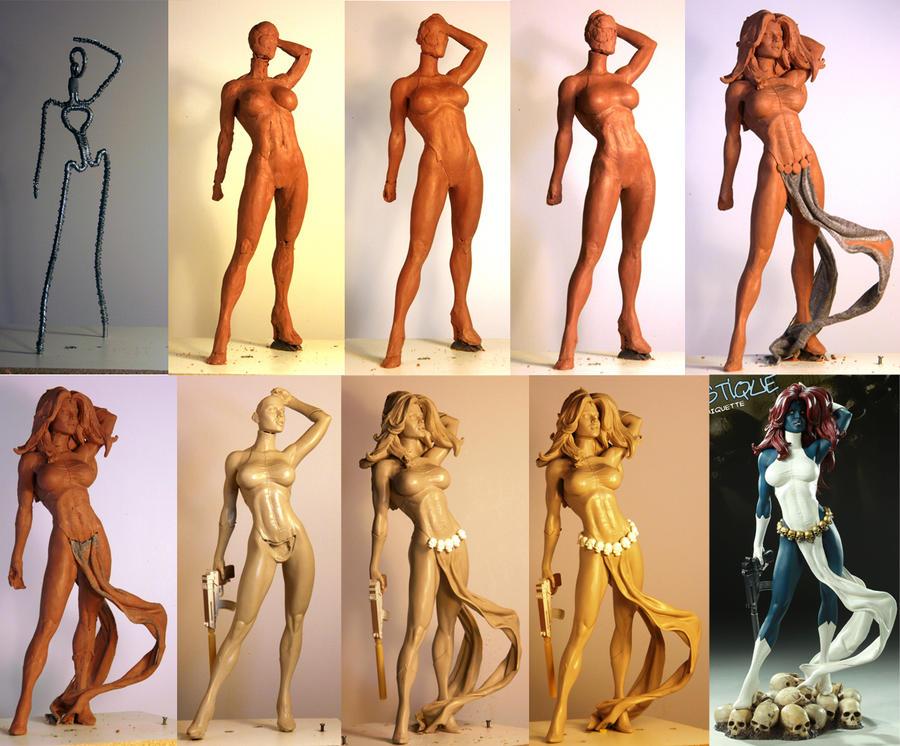 Mystique Progression by TKMillerSculpt