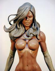 Ms Marvel Closeup by TKMillerSculpt