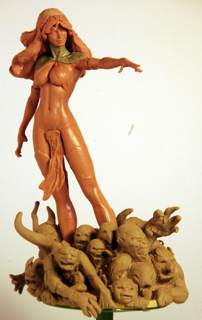Goblin Queen WIP w_base by TKMillerSculpt