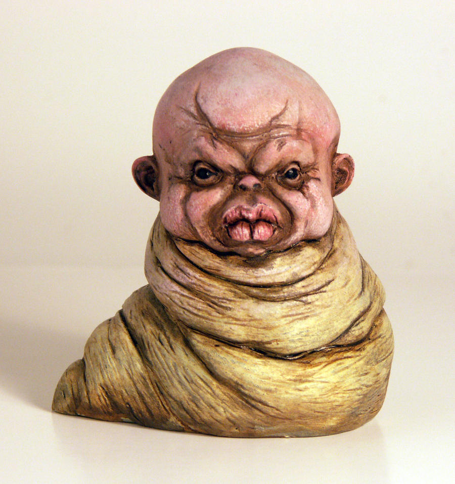 Maggot Painted by TKMillerSculpt