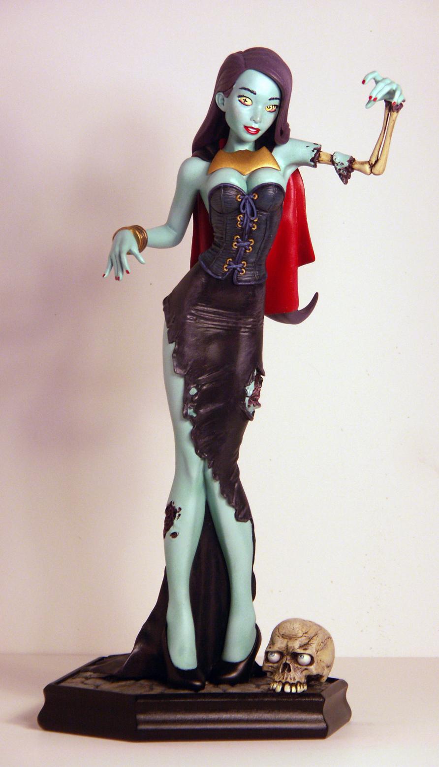 Zombie Gurrrl Painted 04 by TKMillerSculpt