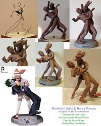 Bombshell Joker Harley Process by TKMillerSculpt