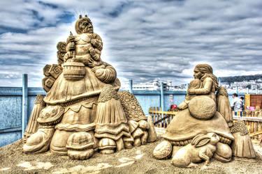 Sand Sculptures HDR by nicholls34