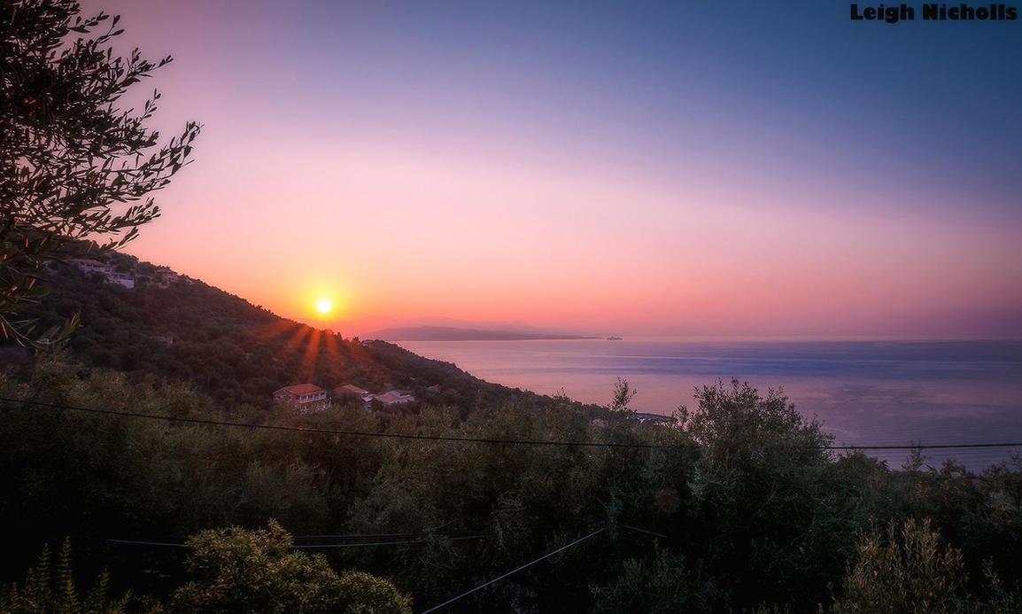 Corfu Sunset by nicholls34