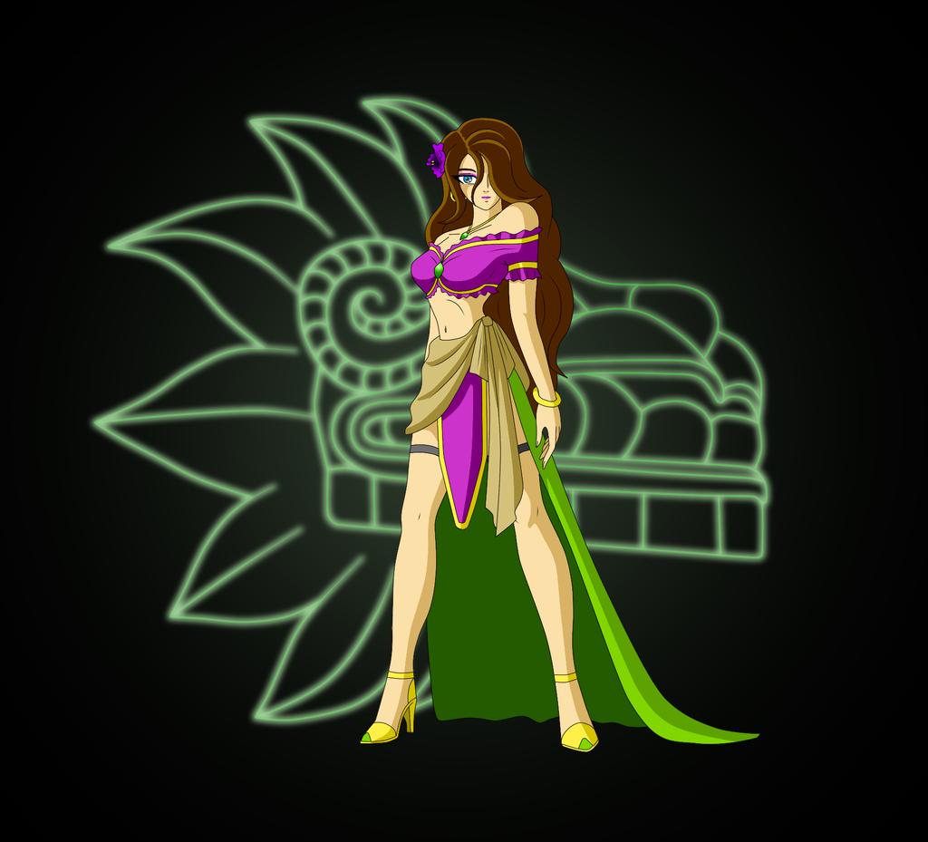 Diosa Xochiquetzal By Angel-Corp On DeviantArt