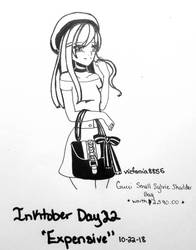 Inktober 2018- Day 22 Expensive by vicfania8855