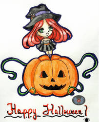 Holiday Series '18- Happy Halloween Girl Keiko by vicfania8855