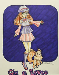 Gia and Eevee by vicfania8855