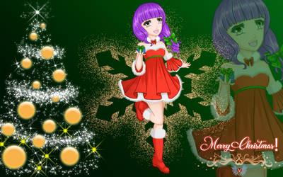 Holiday Series 2018- Merry Christmas Girl Umi