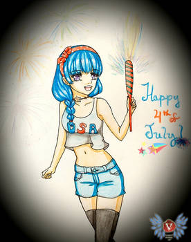 Holiday series '19: Happy 4th of July girl Hera