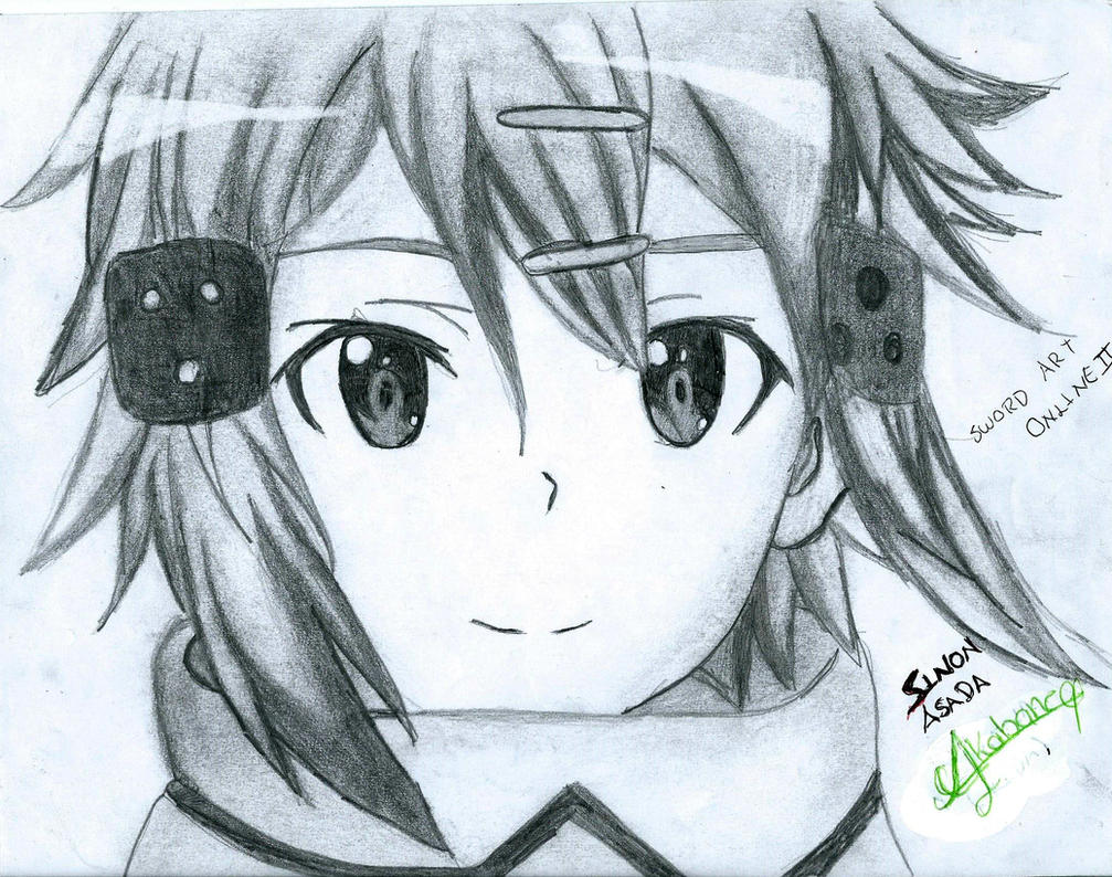 Sinon Asada Drawing By Hyakuya Akabane On DeviantArt
