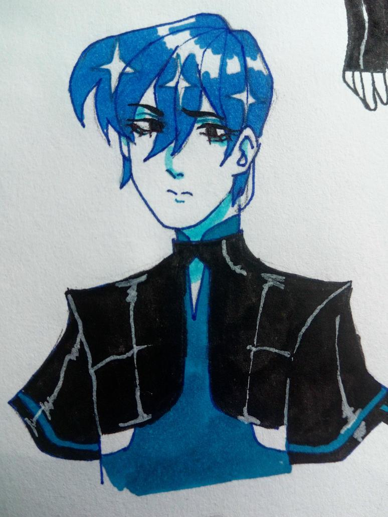 blue boy by Julithekawaiiloser