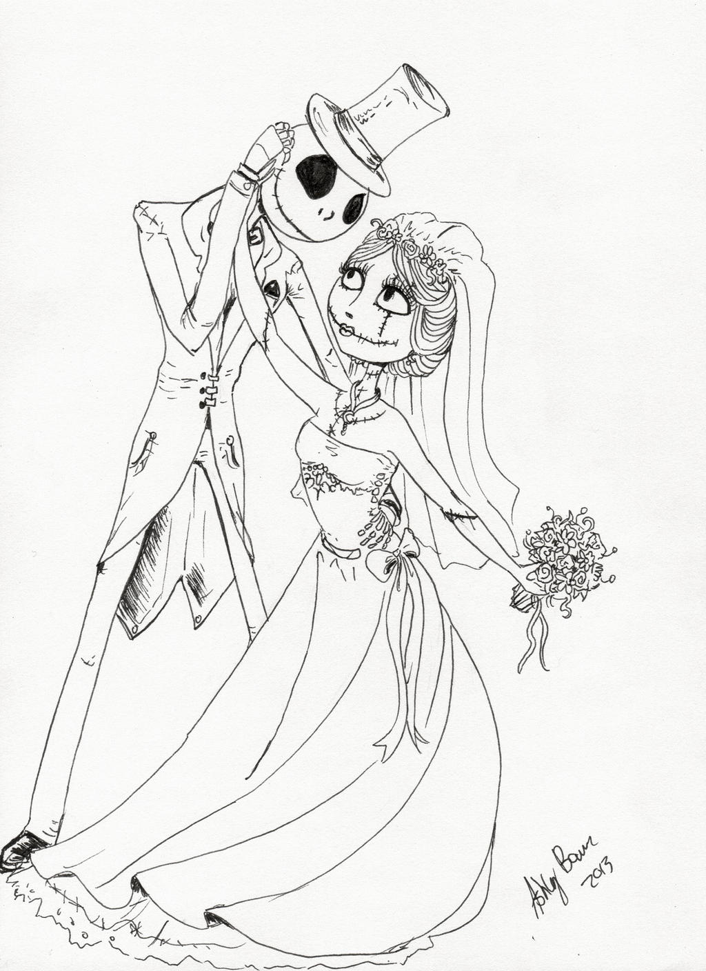 jack and sally coloring pages jack and sally love by angel2489 on deviantart