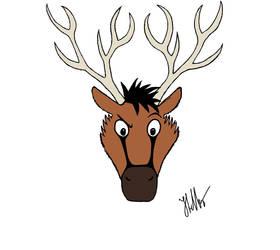 New Reindeer by Black-Helbi