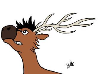 New new Reindeer by Black-Helbi