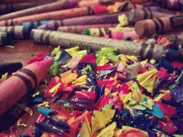 rainbow crayolas by color-me-neon