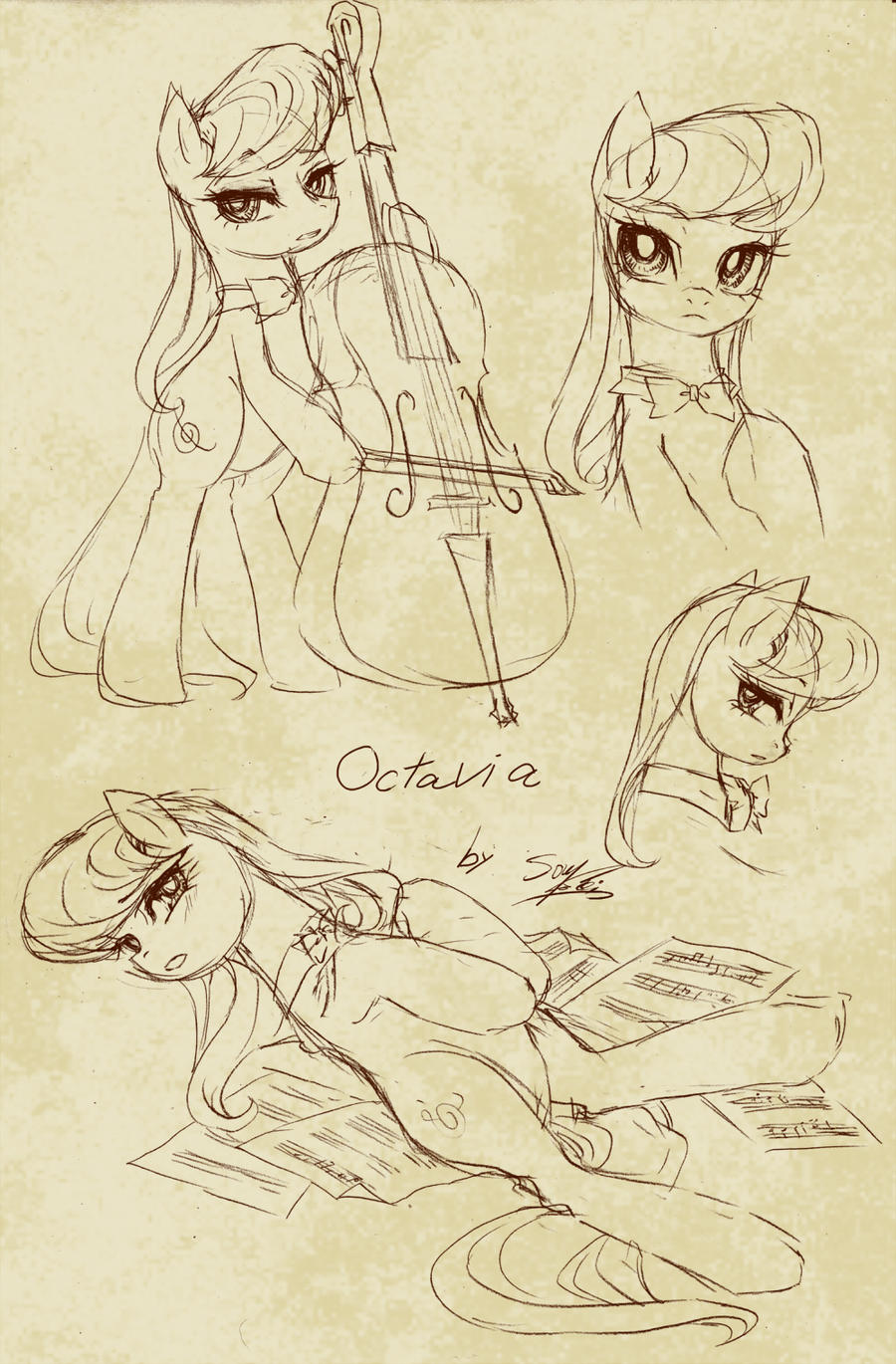 A sketch of Octavia by SoukiTsubasa