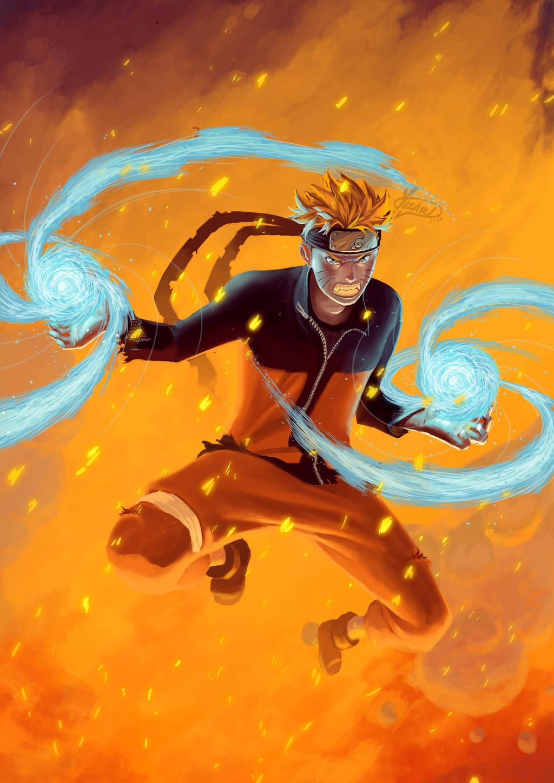 Naruto Double Rasengan by Yizard