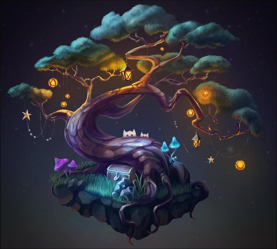 Magic tree by Rei-tanna
