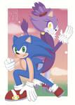 Sonic and Blaze by oyasumilunachan