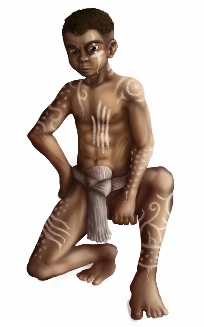 African Tribal Boy by TheStripelessTiger