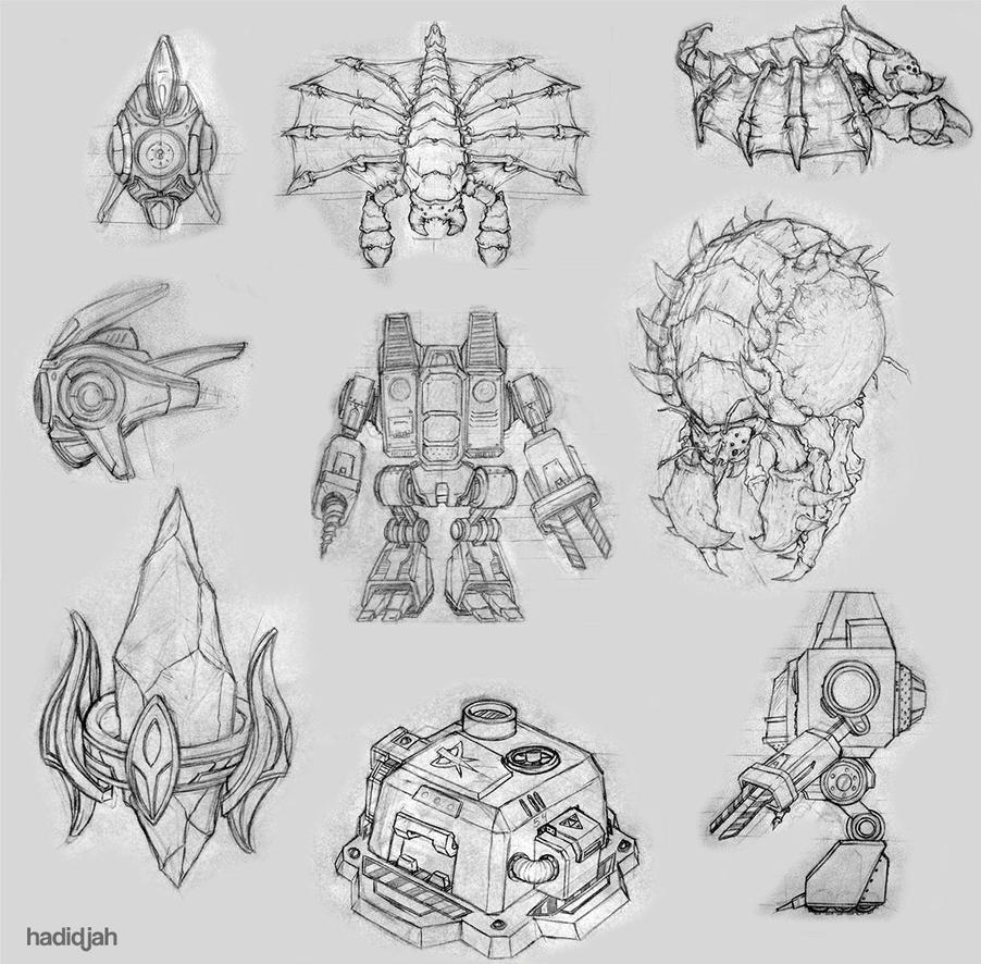 Starcraft Worker sketches by hadidjah