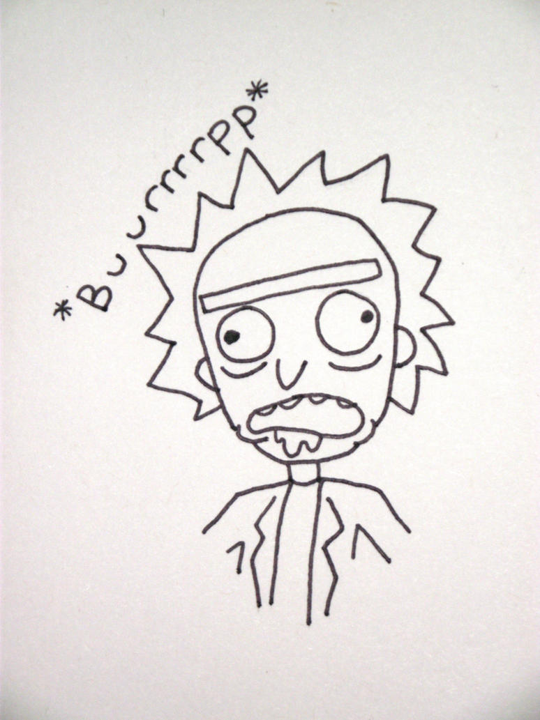 Burping Rick by BipolarCheese