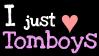 I just love tomboys STAMP by Gretelovsky