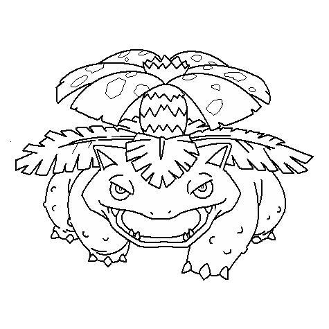 Venusaur coloring page | Free Printable Coloring Pages | 475x475