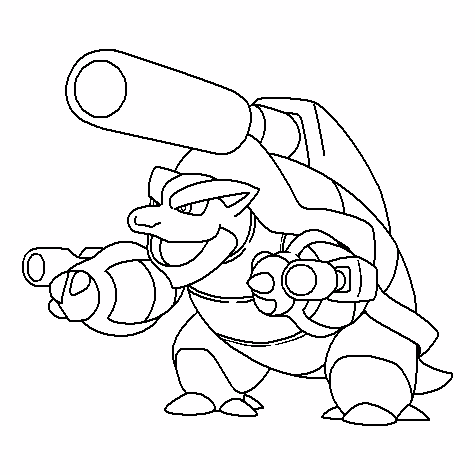 Mega 009 Blastoise Coloring Page By
