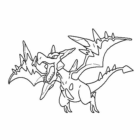Mega 142-Aerodactyl Coloring Page by Nikki-M-Garrett on