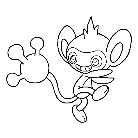 Ambipom Coloring Page | 475x475