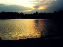 Evening Lake by NicoTheChan