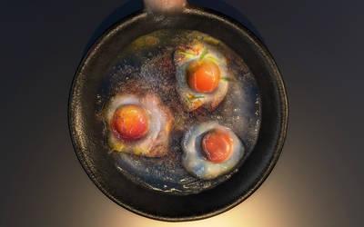 3d Model | Fried Eggs