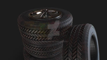 3D Object | Car Tyres