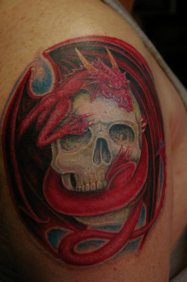 Dragon Skull tattoo by donaldpurvis on DeviantArt