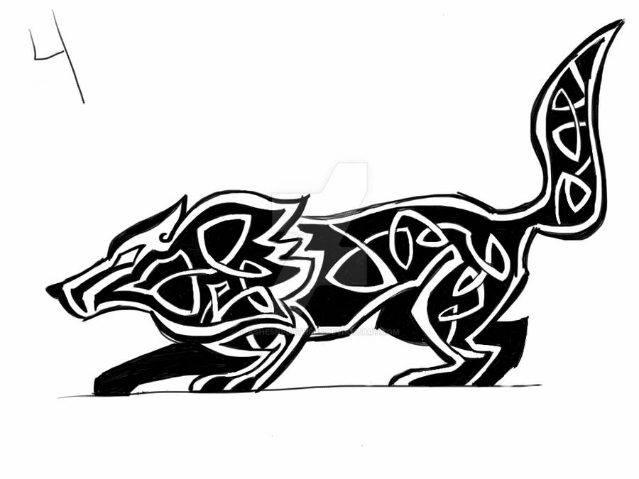 Celtic Wolf Tattoo by AshesNFeathers on DeviantArt
