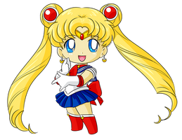 Commission: Chibi Sailor Moon for Katie0513 by FloraFox