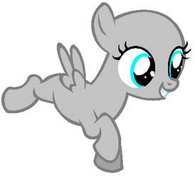 Whee!- Filly Pegasus Base by RiakaPepsiPony