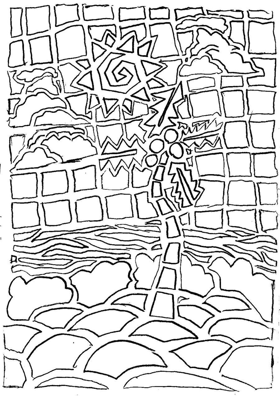 mosaic art coloring pages - photo#31