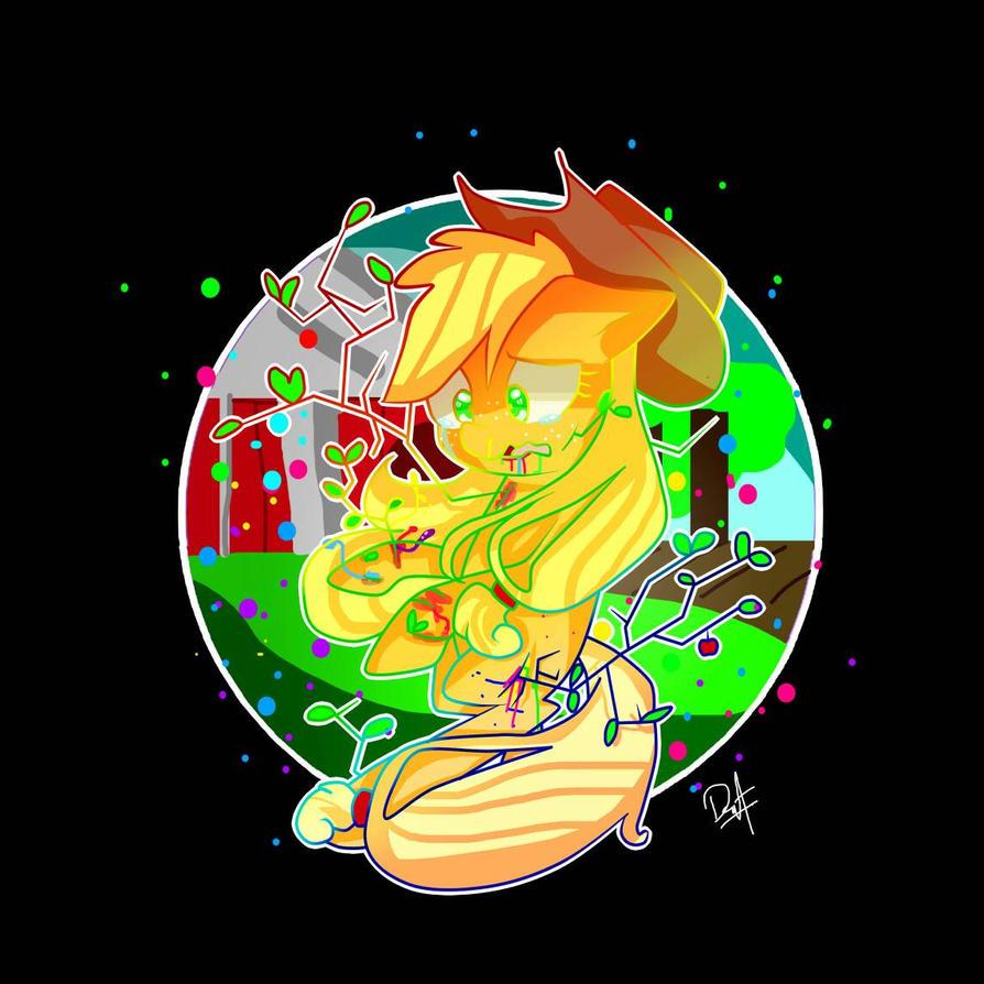 Applejack Pastel Gore by MakaHeartsweets