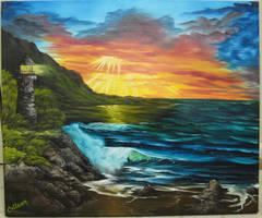 Linda's Lighthouse by crazycolleeny
