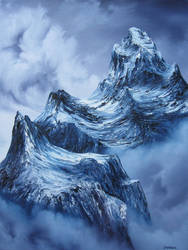 February Mountains PRINT by crazycolleeny
