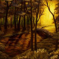 Hidden Creek PRINT by crazycolleeny