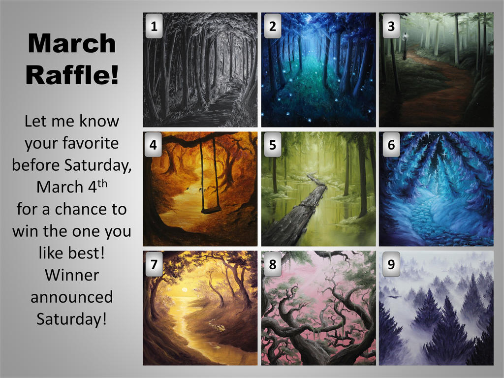 March Raffle by crazycolleeny