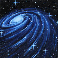 Blue Spiral Galaxy by crazycolleeny