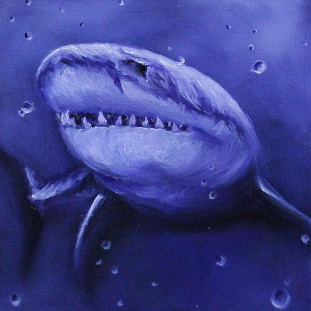 Purple Shark by crazycolleeny