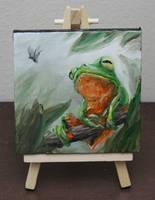 Mini Treefrog by crazycolleeny